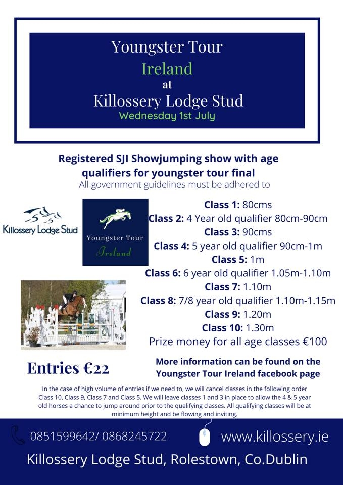 CANCELLED: Youngster Tour – Killossery Lodge