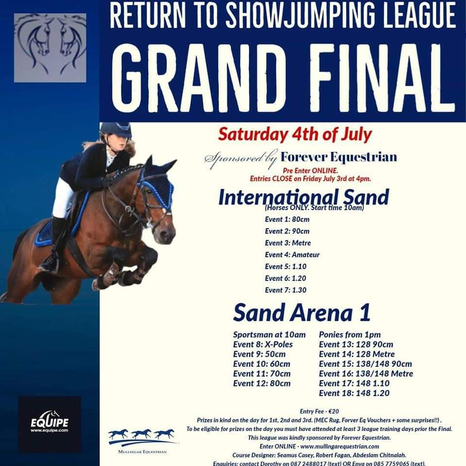 RETURN TO SHOWJUMPING GRAND FINAL