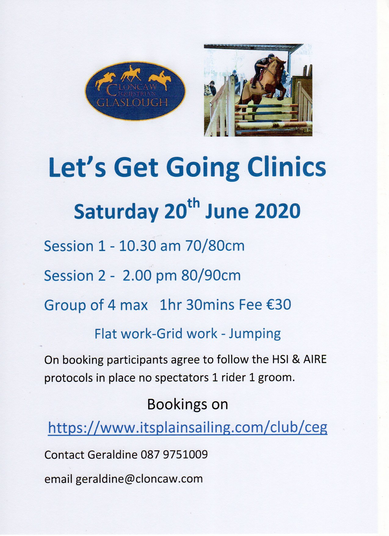 Lets Get Going Clinics