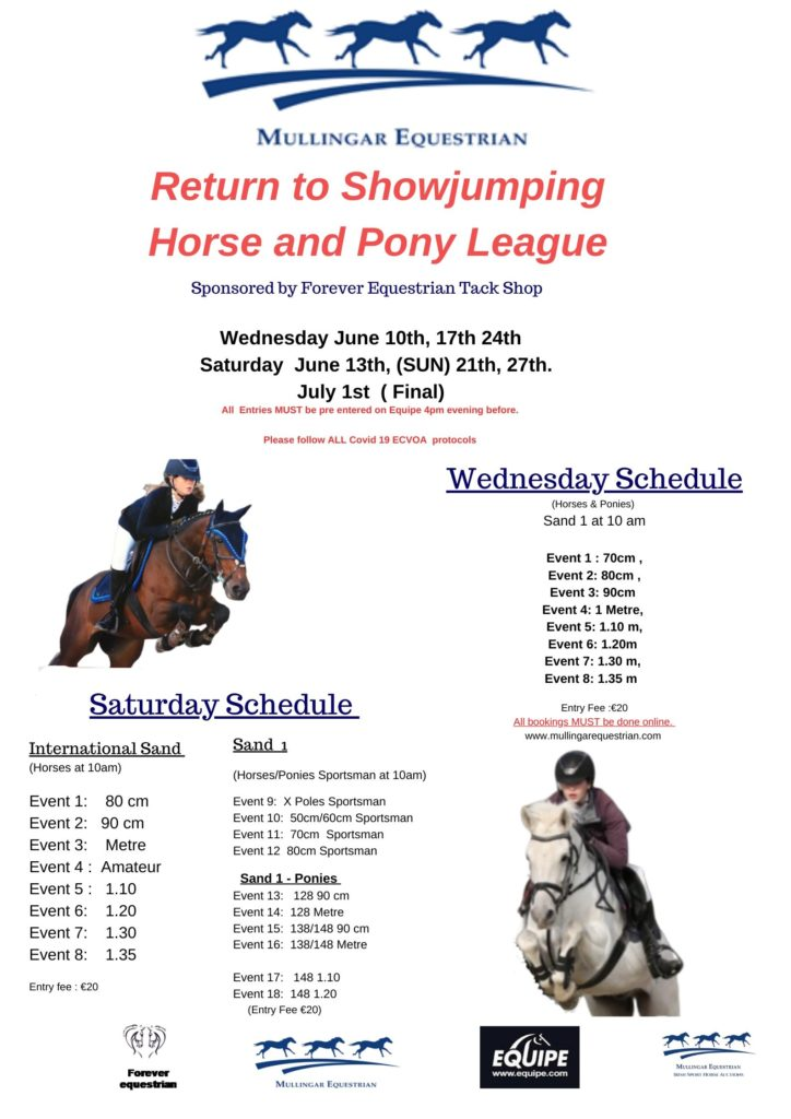 Return to Showjumping Horse & Pony League – FINAL