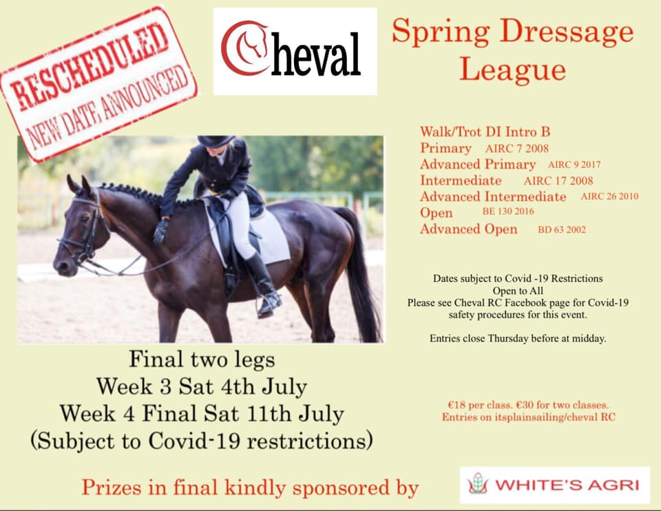 Spring Dressage League (Rescheduled to these dates)