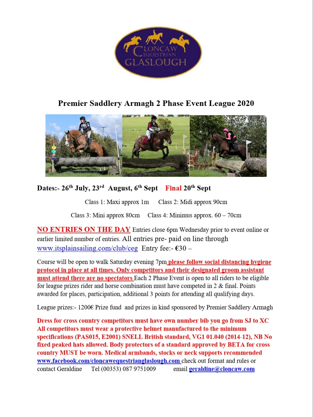 FINAL PREMIER SADDLERY 2 PHASE EVENT LEAGUE