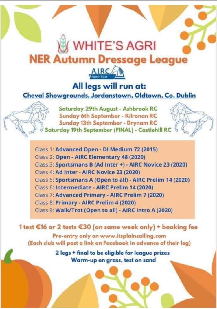 NER Dressage League sponsored by Whites Agri