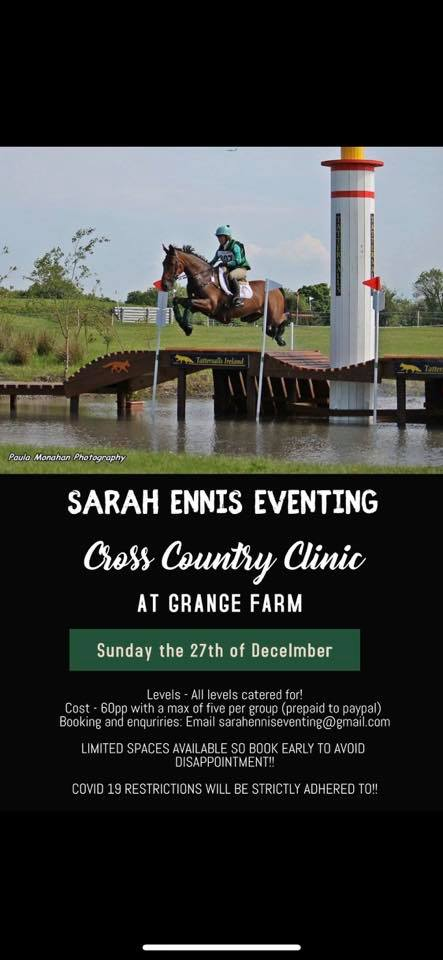 Sarah Ennis Eventing Cross Country Clinic