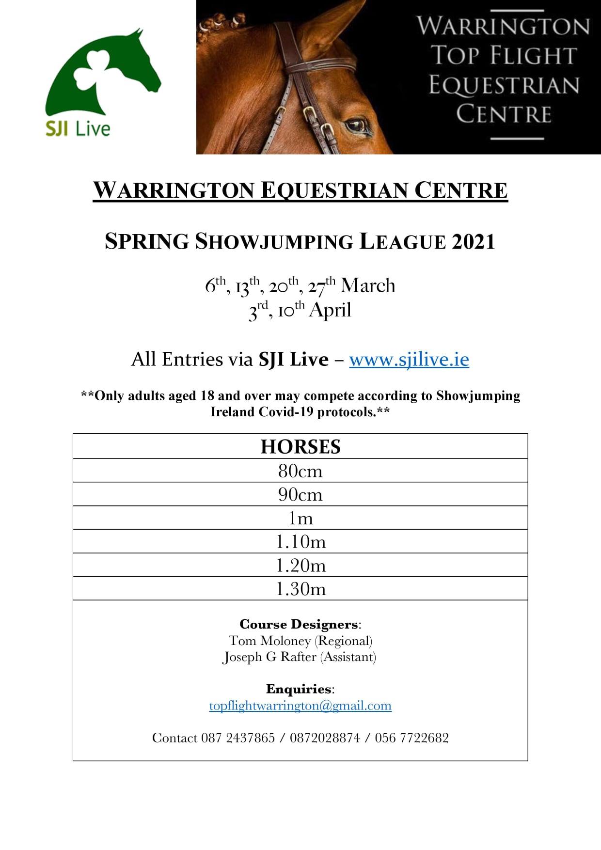 Warrington Equestrian Centre Spring League