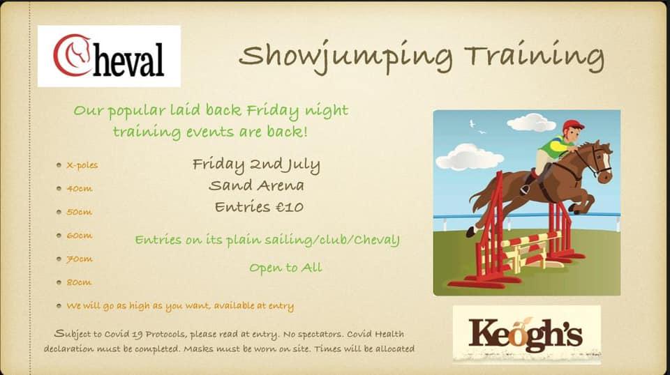 Friday Evening Showjumping Training