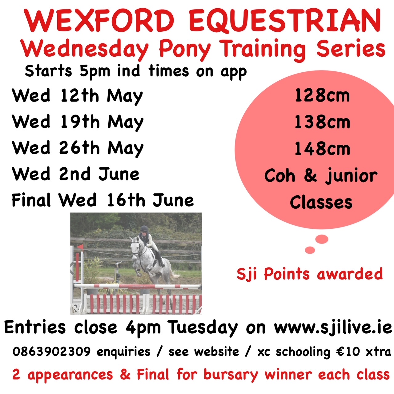 Wednesday Pony Showjumping Series FINAL
