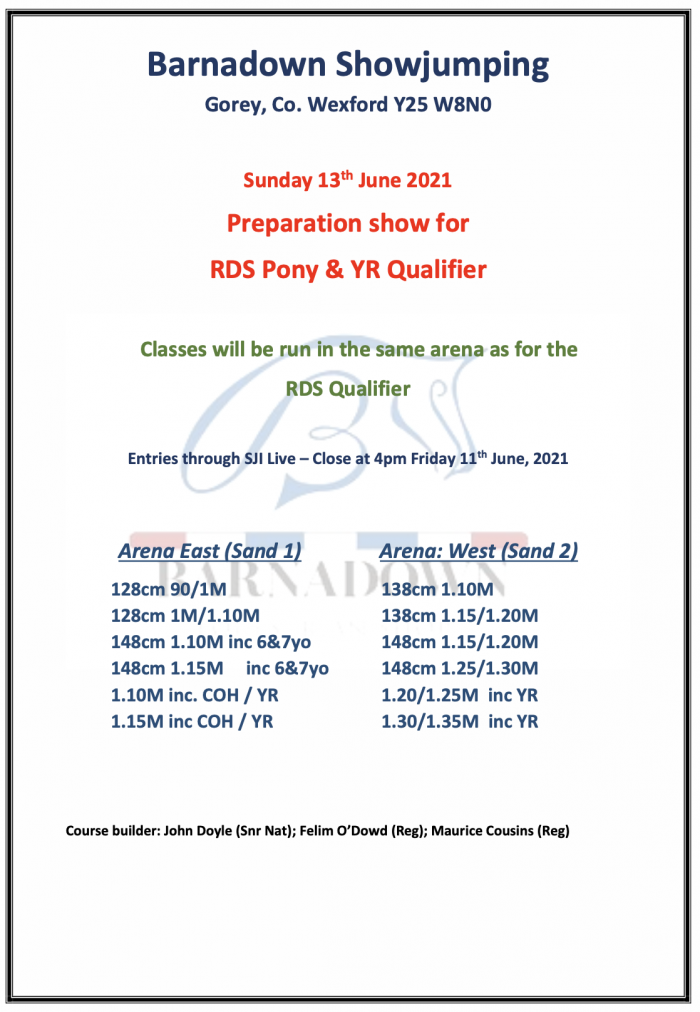 Preparation Show for RDS Pony & YR Qualifier