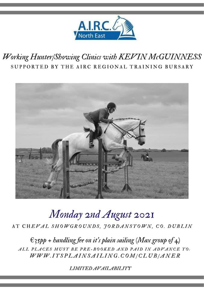 Working Hunter/Showing Clinics with Kevin McGuiness