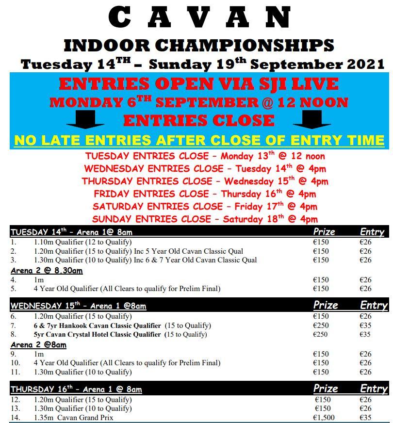 Cavan Indoor Championships