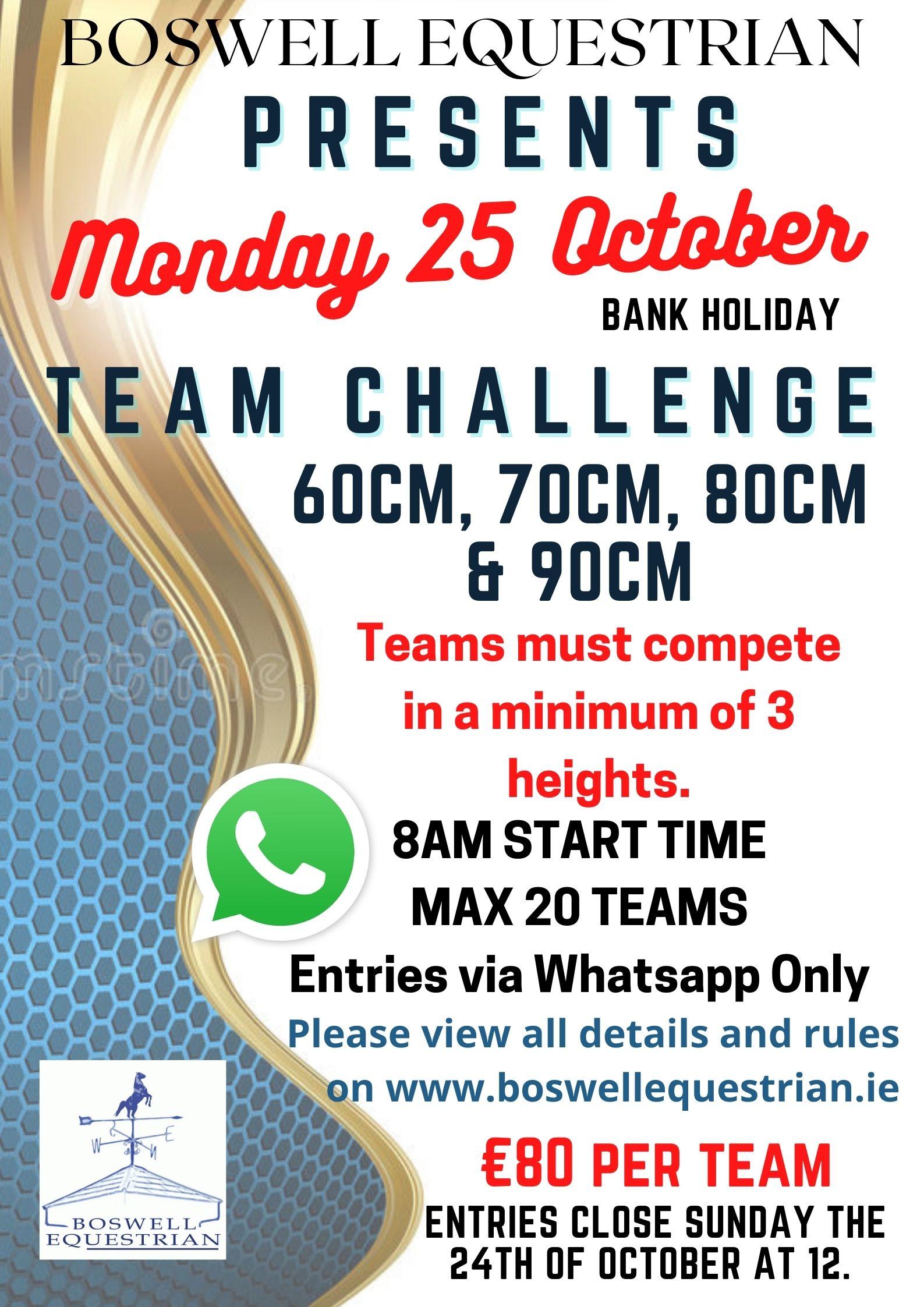 Bank Holiday Team Challenge